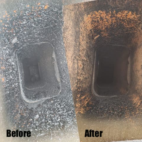 chimney cleaning before after wichita ks inside the chimney